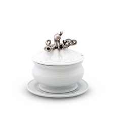 Octopus Stoneware Covered Bowl | Vagabond House | O326KP