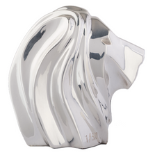 Lion Head Abstract Silver Plated Sculpture | RV32 | D'Argenta