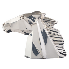 Horse Head Silver Plated Abstract Sculpture | RV39 | D'Argenta