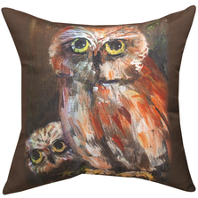 Mama Owl and Baby Throw Pillow | MWWSLMOAB
