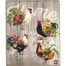 Rooster Garden Poly Throw Blanket | MWWSAORG