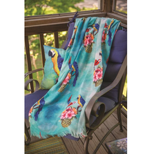 Parrot and Pineapple Poly Throw Blanket | MWWSAPAPA