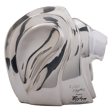 Large Lion Head Silver Plated Sculpture   RV36   D'Argenta