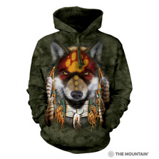 Native Wolf Spirit Unisex Hoodie | The Mountain | 724022 | Wolf Sweatshirt