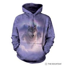 Northern Lights Wolves Unisex Hoodie | The Mountain | 724881 | Wolf Sweatshirt