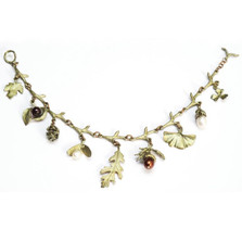 Acorn and Oak Charm Bracelet | Michael Michaud Jewelry | SS7035bzgn