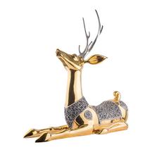 Thai Great Sambar Deer 24k Gold and Silver Plated Sculpture | 5038 | D'Argenta
