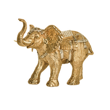 Indian Elephant 24k Gold Plated Sculpture | 7513 | D'Argenta