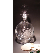 Octopus Crystal Jacque Decanter | Evergreen Crystal | ECSS-80661