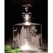 Elk Scene Crystal Decanter | Evergreen Crystal | ECNA-33641
