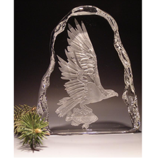 Osprey Crystal Ice Block Sculpture | Evergreen Crystal | ECNA-102530