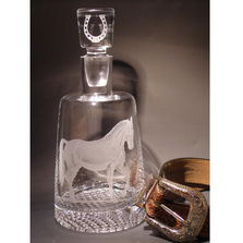 Horse Presidential Crystal Decanter