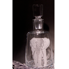 Elephant Presidential Crystal Decanter | Evergreen Crystal | ECAF-01659