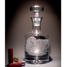 Duck Crystal Decanter | Evergreen Crystal | ECNA-18607