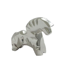 """Horse Abstract Silver Plated Bust Sculpture """"Kauayo"""" 