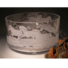 Stallions Crystal Bowl | Evergreen Crystal | ECWS-05105