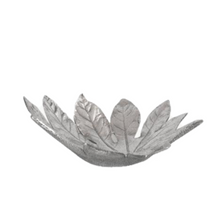 Fatsia Japonica Leaf Silver Plated Fruit Bowl Centerpiece | U-37 | D'Argenta