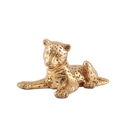 Leopard Cub 24K Gold Plated Sculpture | A-63-O | D'Argenta