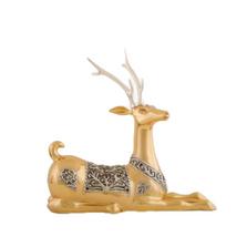 Resting Thai Deer 24K Gold Plated Sculpture | 5037 | D'Argenta
