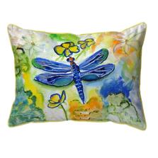 Dragonfly Garden Indoor Outdoor Pillow 20x24 | Betsy Drake | BDZP817