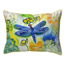 Dragonfly Garden Indoor Outdoor Pillow 20x24 | Betsy Drake | BDZP817