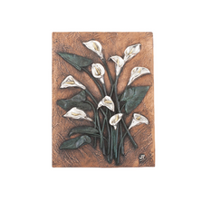 Calla Lilies Copper and Silver Plated Relief Wall Sculpture | 2003 | D'Argenta