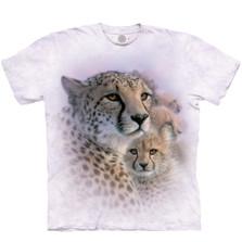 Cheetah Mother's Love Unisex Cotton T-Shirt | The Mountain | TMA106435XL | Cheetah T-Shirt