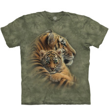Cherished Tigers Unisex Cotton T-Shirt   The Mountain   106433lg   Tiger T-Shirt