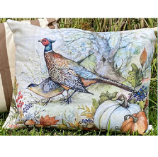 Fall Pheasant Indoor Outdoor Pillow 19x24