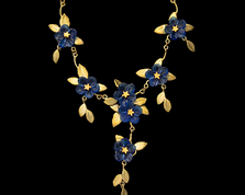 "Blue Violet 18"" Adjustable Drop Necklace 