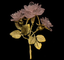 Blushing Rose Statement Pin | Michael Michaud Jewelry |SS6201bzg