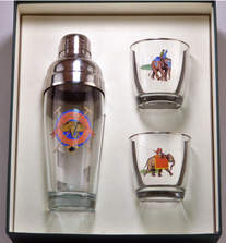 Elephant Polo Cocktail Shaker Set | Richard Bishop | 2037EP