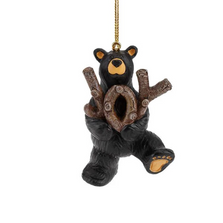 Bear Hold On To Joy Ornament | Big Sky Carvers | BSC