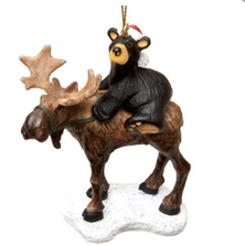 Bear Riding Moose Ornament | Big Sky Carvers | BSCB5070008