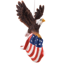 Flying Eagle With Flag Ornament | ORN71678