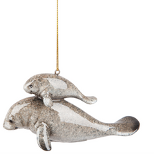 Cozumel Reef Mom and Baby Manatee Ornament | Gallerie II Designs | ORN73512