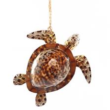 Sea Turtle Cowry Shell Ornament | Gallerie II Designs | ORN71856