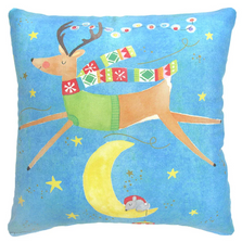 Reindeer Over the Moon 18x18 | Magnolia Casual | MCBC605LCS
