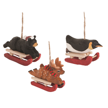 Sled Race Ornament Set of 3   Gallerie II   ORN73827