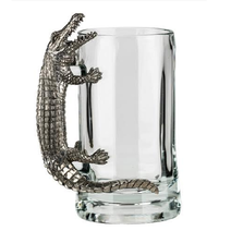 Fine Pewter Carved Alligator Beer Mug | Menagerie | MBM-A0721