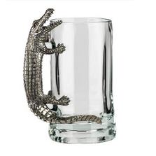 Fine Pewter Carved Alligator Beer Mug | Menagerie | MBM-A0721