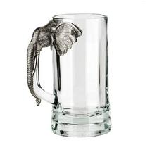 Fine Pewter Carved Elephant Beer Mug | Menagerie | MBM-E0581