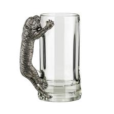 Fine Pewter Carved Tiger Beer Mug | Menagerie | MBM-E0991