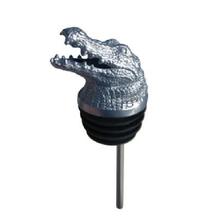 Stainless Steel Carved Alligator Wine Pourer - Aerator | Menagerie | M-SSPA2-072