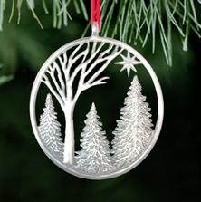 Winter Light Pewter Ornament | Ken Kantro | Lovell Designs