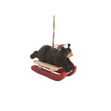 Carved Wooden Bear Sled Race Ornament   Gallerie II   ORN73827 -3