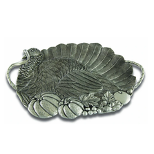 Turkey Turkey Pewter Serving Tray |Vagabond House | 102324
