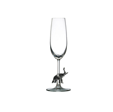 Carved Pewter Elephant Champagne Flute | Menagerie | M-CHE1-058