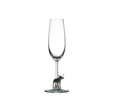 Carved Pewter Longhorn Champagne Flute | Menagerie |