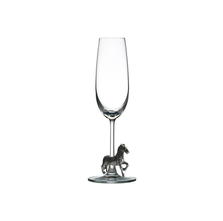Carved Pewter Zebra Champagne Flute | Menagerie | M-CHZ1-125